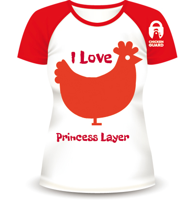 "Win A ChickenGuard ""I Love Chickens"" Personalised T-Shirt"