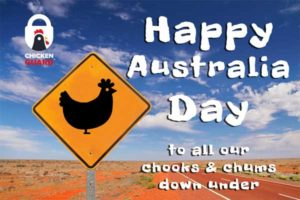 Happy Australia Day to all our chums and chooks in the Lucky Country